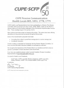 CUPE Pension Communication